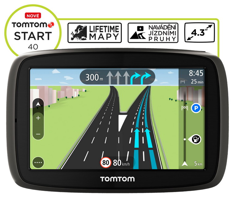 TOMTOM START 40 Europe LIFETIME mapy