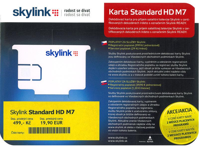 SKY Link SKYLINK dekódovací karta Standard HD M7 Irdeto