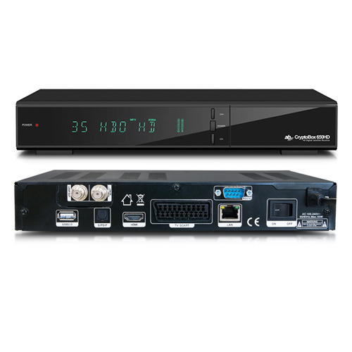 AB-COM AB DVB-S2/T2 přijímač Cryptobox 652HD Combo