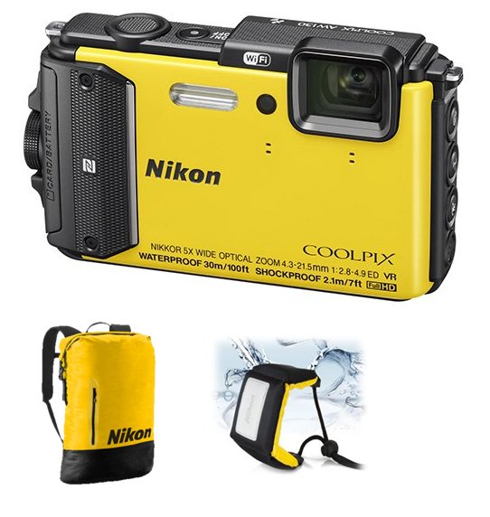 NIKON COOLPIX AW130 Yellow - Diving kit