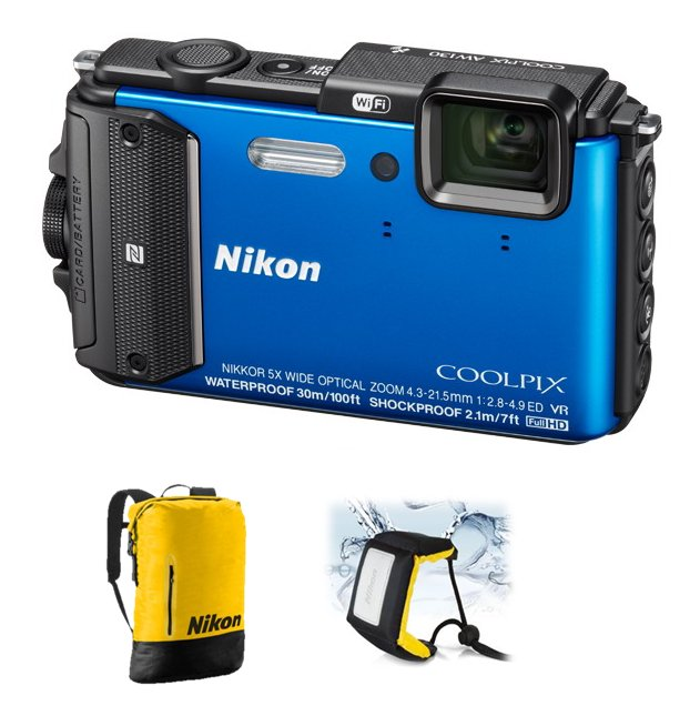 NIKON COOLPIX AW130 Blue - Diving kit