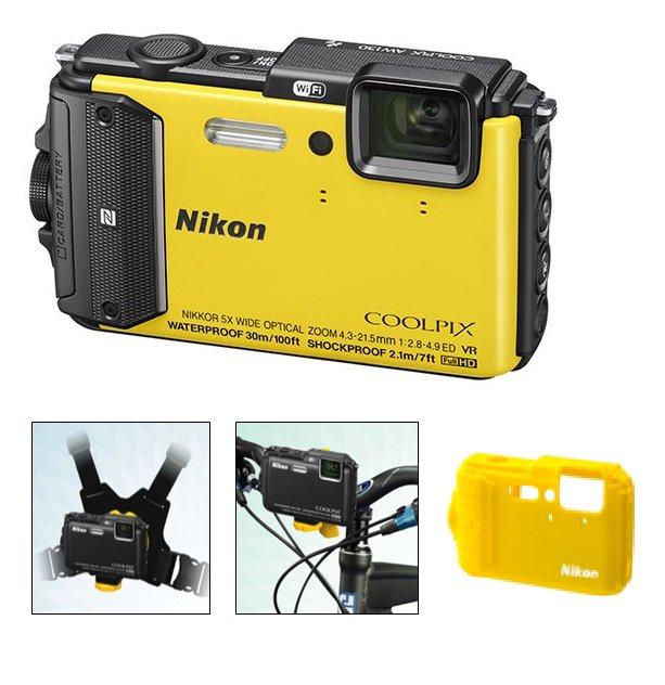 NIKON COOLPIX AW130 Yellow - Outdoor kit
