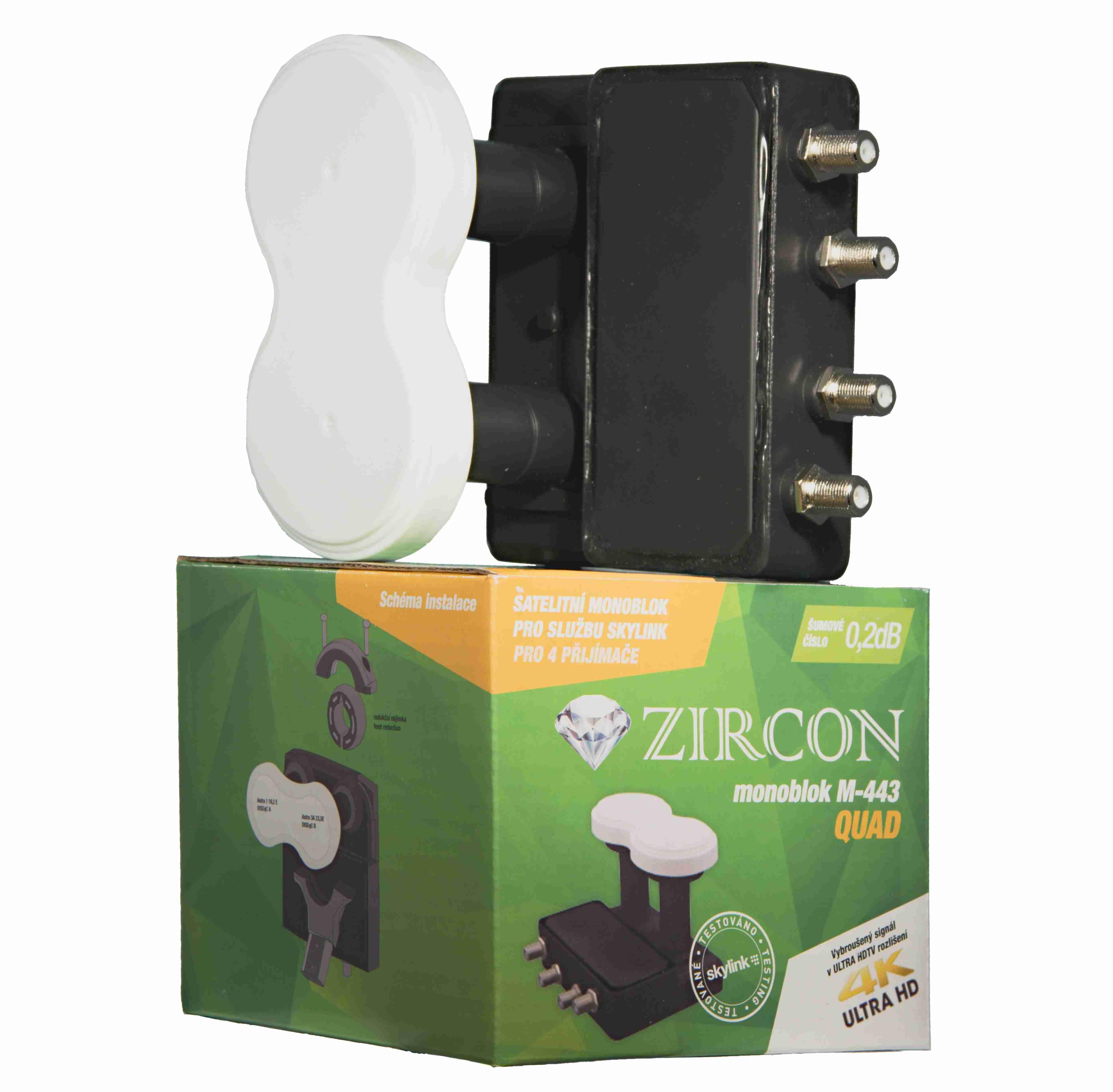 ZIRCON Zircon konvertor Monoblock Quad M-443 pro Skylink
