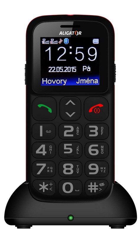 Aligator A311 Senior Dual SIM, černá