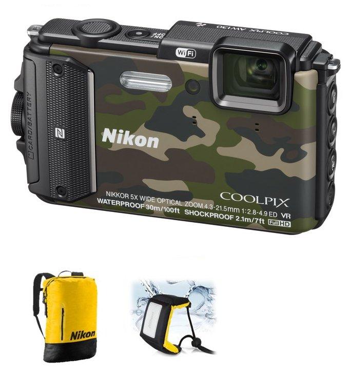 NIKON COOLPIX AW130 Camouflage - Diving kit
