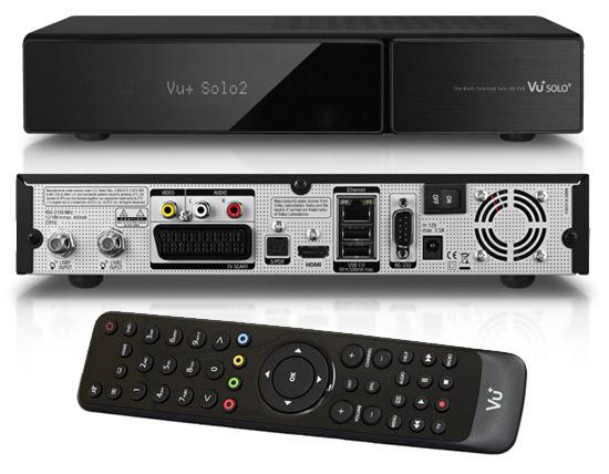 OEM VU+ Solo2 Twin tuner, satelitní přijímač Enigma, černý