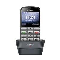 Aligator A870 GPS Senior, šedá + nabíjecí stojánek